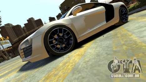 Audi R8 para GTA 4 esquerda vista
