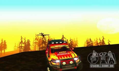 UAZ Patriot julgamento para GTA San Andreas vista interior