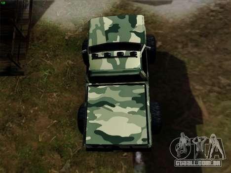 Camuflagem para monstro para GTA San Andreas vista superior