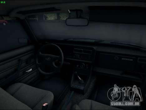 LADA 2107 Riva para GTA San Andreas vista interior
