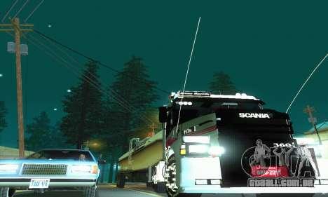 TopLine Scania 113 h 360 para GTA San Andreas vista interior