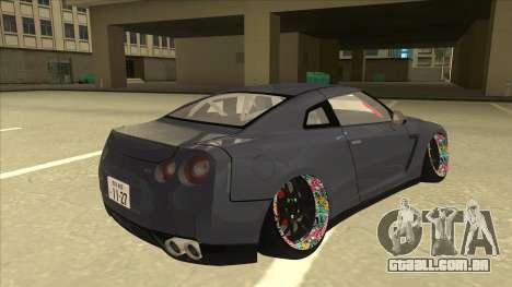 Nissan GT-R R35 Camber Killer para GTA San Andreas vista direita