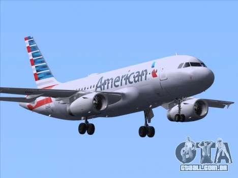 Airbus A319-112 American Airlines para GTA San Andreas traseira esquerda vista