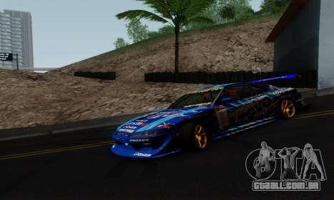 Nissan Silvia S15 Toyo Drift para GTA San Andreas esquerda vista