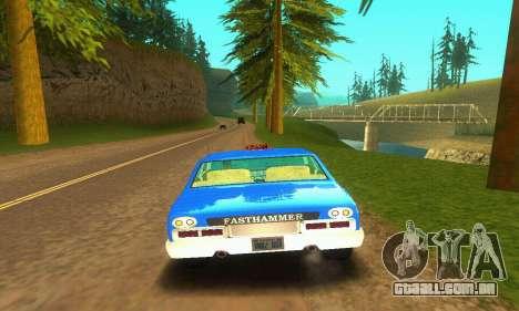 Fasthammer Taxi para GTA San Andreas vista traseira