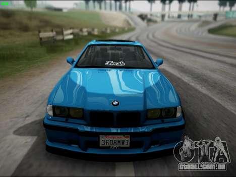 BMW M3 E36 Stance para GTA San Andreas vista traseira