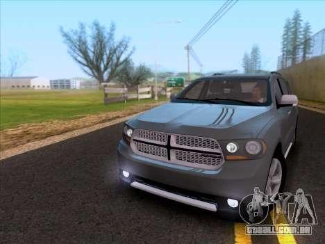 Dodge Durango Citadel 2013 para GTA San Andreas esquerda vista