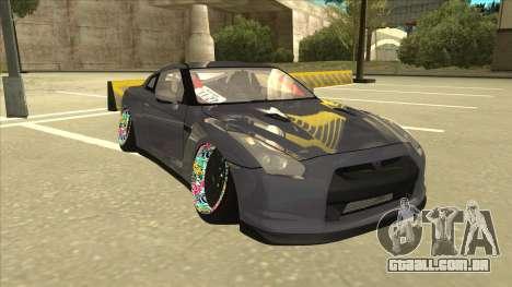 Nissan GT-R R35 Camber Killer para GTA San Andreas esquerda vista