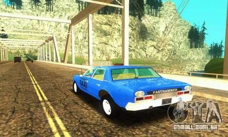 Fasthammer Taxi para GTA San Andreas traseira esquerda vista