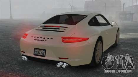 Porsche 911 Carrera S 2012 v2.0 para GTA 4 traseira esquerda vista