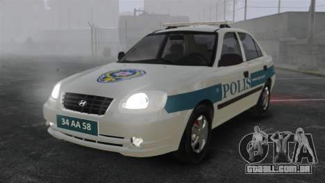 Hyundai Accent Admire Turkish Police [ELS] para GTA 4
