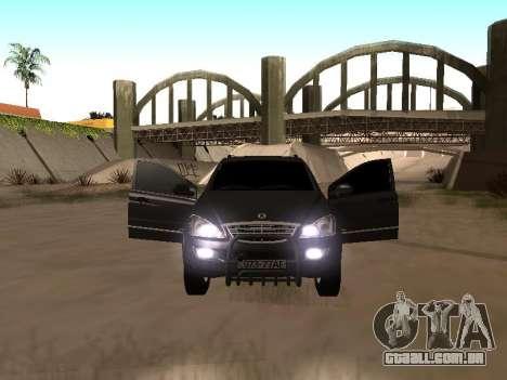 SsangYong New Kyron 2013 para GTA San Andreas esquerda vista