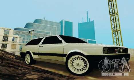 VW Parati GLS 1988 para GTA San Andreas vista traseira