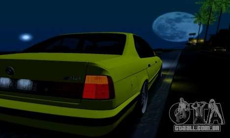 BMW M5 E34 IVLM v2.0.2 para GTA San Andreas vista inferior