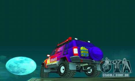 UAZ Patriot julgamento para GTA San Andreas vista inferior