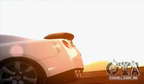 Nissan GT-R Carbon para GTA San Andreas traseira esquerda vista
