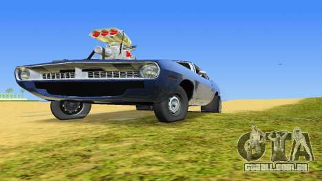 Plymouth Barracuda Supercharger para GTA Vice City vista traseira