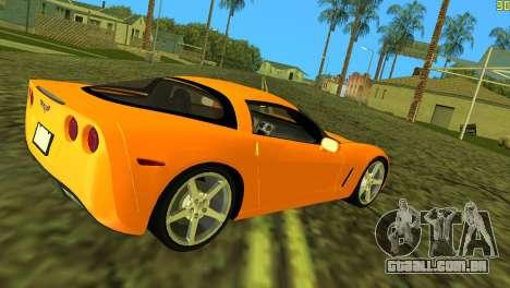 Chevrolet Corvette C6 para GTA Vice City vista direita