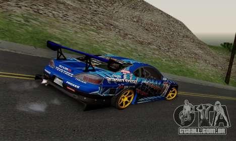 Nissan Silvia S15 Toyo Drift para GTA San Andreas vista traseira