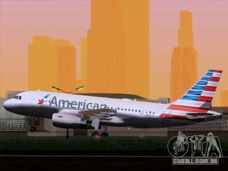 Airbus A319-112 American Airlines para GTA San Andreas vista direita