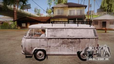 Volkswagen Transporter T2 Custom para GTA San Andreas esquerda vista