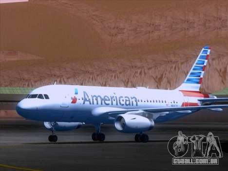 Airbus A319-112 American Airlines para GTA San Andreas esquerda vista