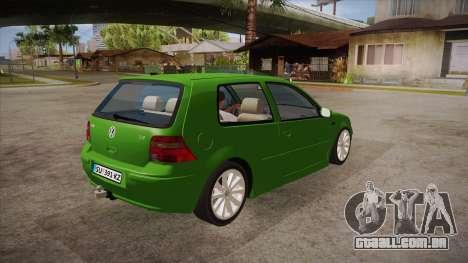 Volkswagen Golf Mk4 para GTA San Andreas vista direita