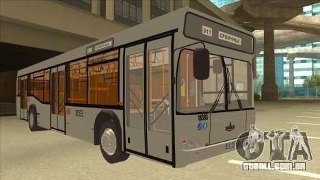 511 Sremcica Bus para GTA San Andreas esquerda vista