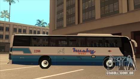 Husky Tours 2288 para GTA San Andreas traseira esquerda vista