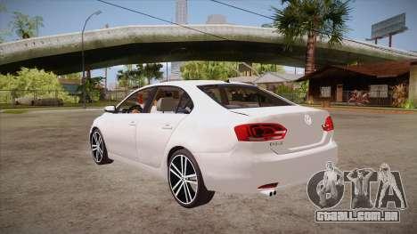 VW Jetta GLI 2013 para GTA San Andreas traseira esquerda vista