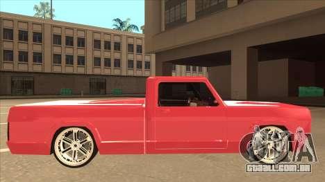 Modified Sadler para GTA San Andreas traseira esquerda vista