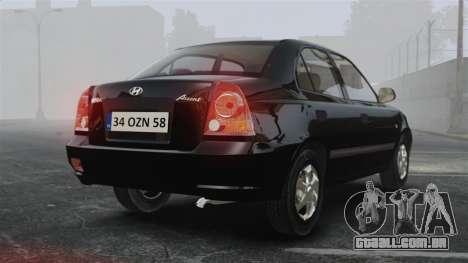 Hyundai Accent Admire para GTA 4 traseira esquerda vista