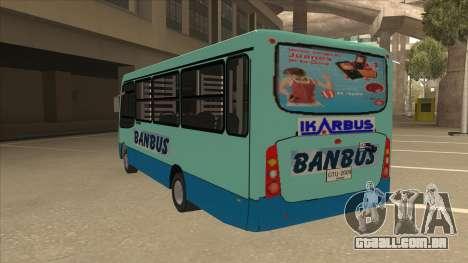 BANBUS Bus Srb. para GTA San Andreas vista traseira