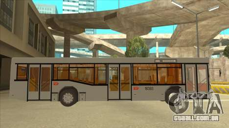 511 Sremcica Bus para GTA San Andreas traseira esquerda vista