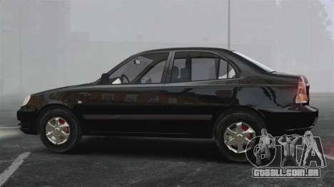 Hyundai Accent Admire para GTA 4 esquerda vista