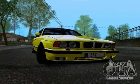 BMW M5 E34 IVLM v2.0.2 para GTA San Andreas vista interior