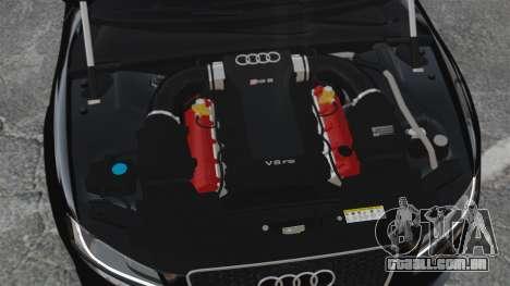 Audi RS5 2011 v2.0 para GTA 4 vista interior