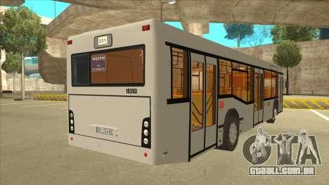 511 Sremcica Bus para GTA San Andreas vista direita