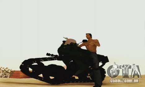 Mercenaries 2 Panzercycle para GTA San Andreas esquerda vista