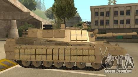 M69A2 Rhino Desierto para GTA San Andreas traseira esquerda vista