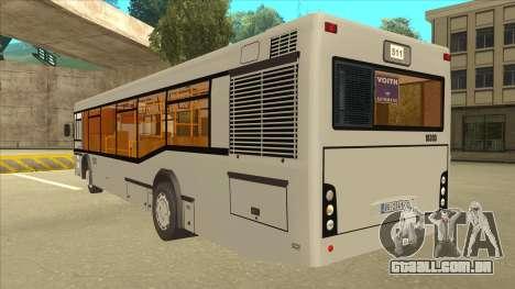 511 Sremcica Bus para GTA San Andreas vista traseira