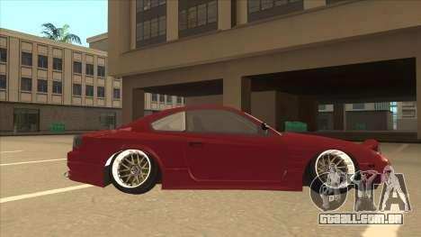 Nissan Silvia S18-5 para GTA San Andreas traseira esquerda vista