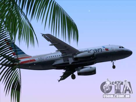 Airbus A319-112 American Airlines para GTA San Andreas vista superior