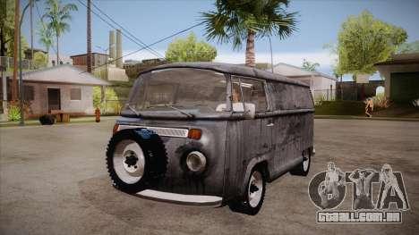 Volkswagen Transporter T2 Custom para GTA San Andreas vista interior