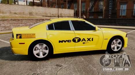 Dodge Charger 2011 Taxi para GTA 4 esquerda vista