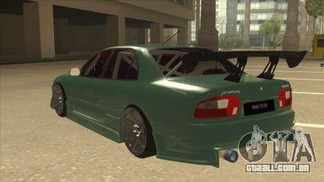 Proton Wira with s15 front end para GTA San Andreas vista traseira