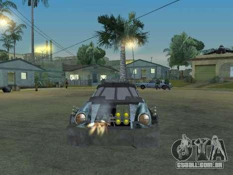 Porsche 911 Death Race para GTA San Andreas vista traseira