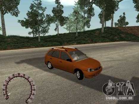 Lada 1117 Kalina para GTA San Andreas traseira esquerda vista