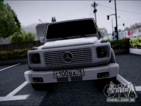 Mercedes-Benz G500 para GTA San Andreas vista traseira