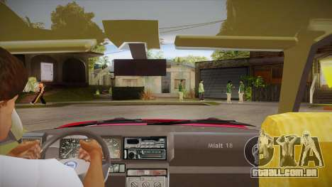Lancia Delta Integrale EVO-2 para GTA San Andreas vista interior